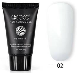 Акрил-гель GDCOCO №02 UV/LED 45 г, white