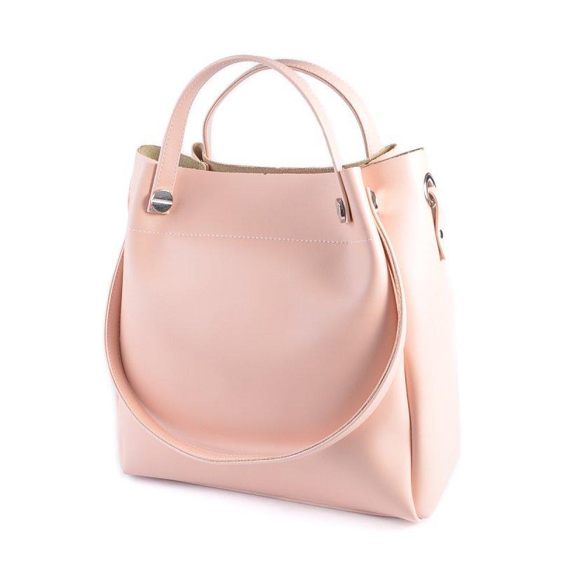 89046acb95e2 Розовая сумка-шоппер М206-88 деловая летняя цвет пудра - Интернет магазин  сумок SUMKOFF