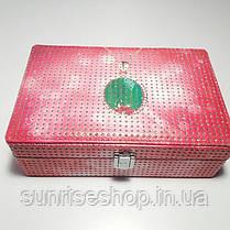 Шкатулка для украшений кожзаменитель купить оптом, фото 2