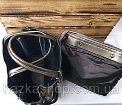 Женская сумка из натуральной кожи, съемная середина, съемный регулируемый ремешок, фото 2