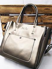 Женская сумка из натуральной кожи, съемная середина, съемный регулируемый ремешок, фото 3