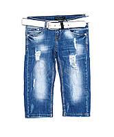 Женские джинсовые бриджи, реплика Philipp Plein  р. 26, 27