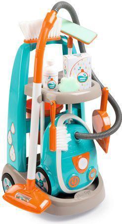 Игровой набор для уборки с пылесосом, тележкой и аксессуарами Smoby (330309)