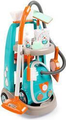 Игровой набор для уборки с пылесосом, тележкой и аксессуарами Smoby 3+ (330309)