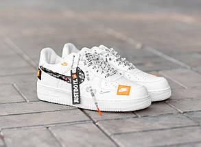 Мужские и женские кроссовки Nike Air Force 1 Low Just Do It Pack White, фото 2