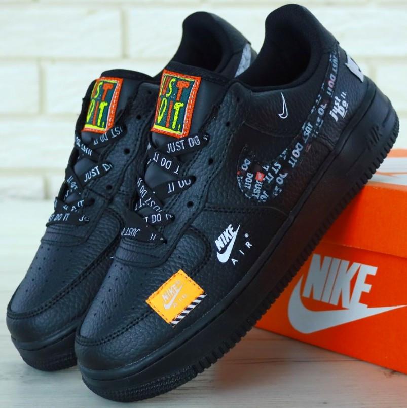 Мужские кроссовки Nike Air Force 1 Low Just Do It Pack Black
