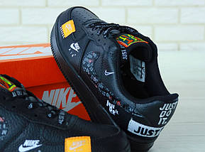 Мужские кроссовки Nike Air Force 1 Low Just Do It Pack Black, фото 2