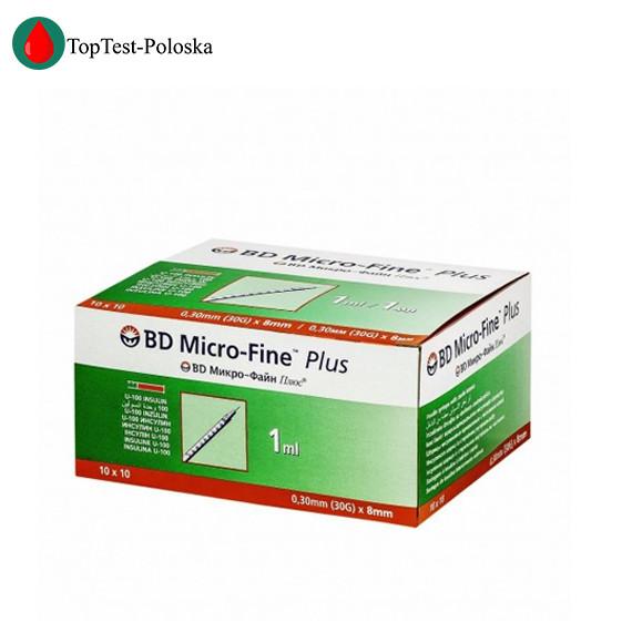 Шприцы Микро Файн (Micro Fine) u-100 1 мл 8 мм 100 шт.