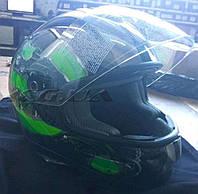 Шлем-интеграл   GPA   (Original Parts) (size:M, зелено-черный)   VV