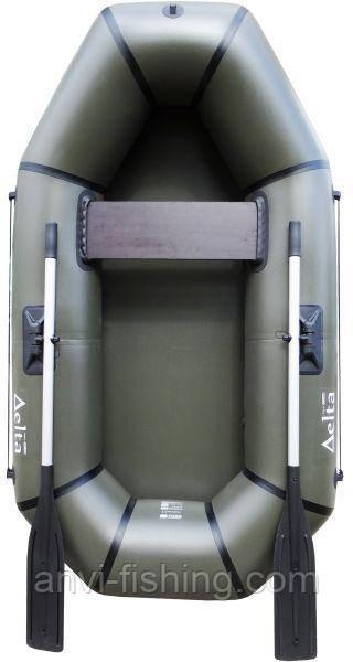 Надувная Лодка ПВХ Омега Дельта 210 Хаки - 1,5 местная