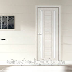 """Дверне полотно Cortex Deco 02 дуб Bianco / дуб Bianco line """"ПО-Сатин"""" """"Оміс"""""""