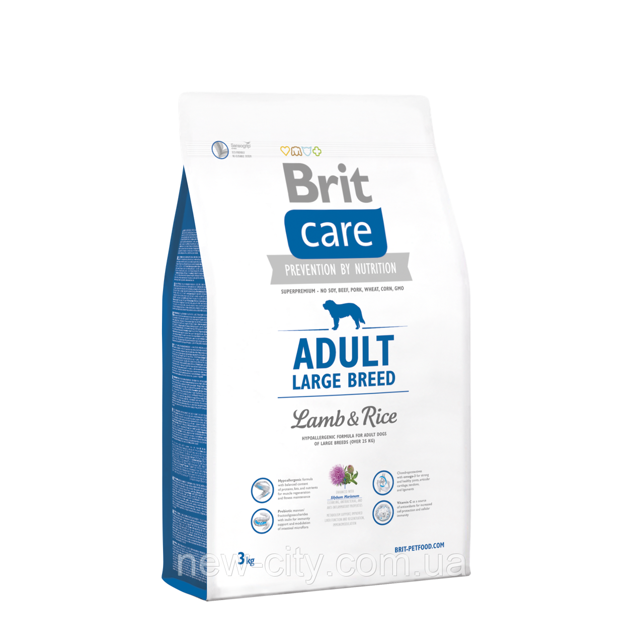 Brit Care Adult Large Breed Lamb & Rice 3kg (для собак весом от 25 кг)