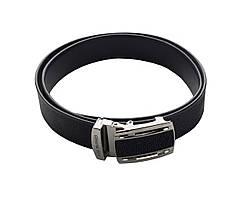 Ремінь зі шкіри ската Ekzotic Leather Чорний (stb10_2)
