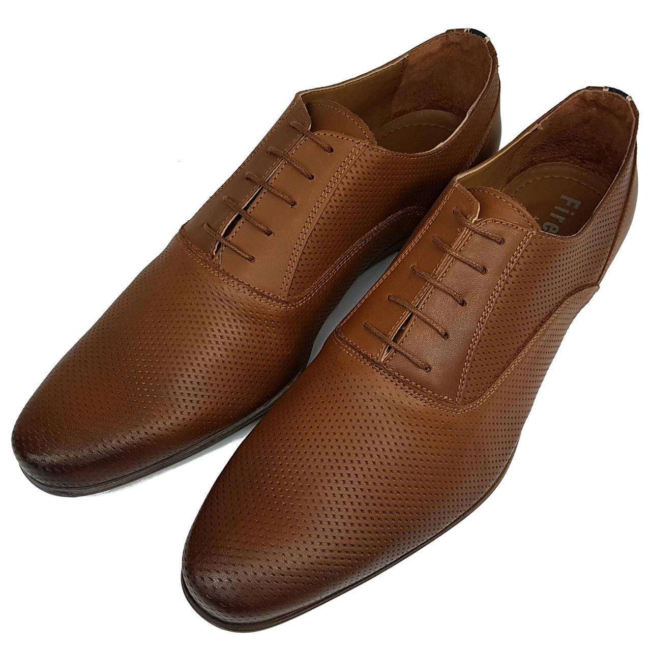 Мужские кожаные туфли Firetrap рыжие SH0013