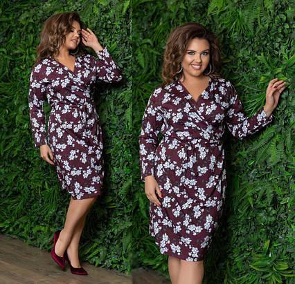ada181c8f11 Стильное женское платье в батальных размерах 595