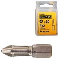 Акс.инстр DeWALT  Биты торсионные TORSION Ph2, 25мм, 20шт.
