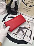 Женский кошелёк от Фенди, натуральная кожа, цвет красный с золотом, фото 4