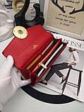 Женский кошелёк от Фенди, натуральная кожа, цвет красный с золотом, фото 5