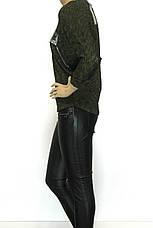 Жіноча кофта з принтом із стразів, фото 3