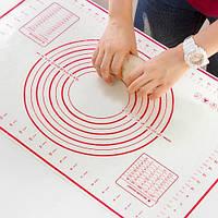 Силиконовый коврик для выпечки и теста, красный 40 х 60 см