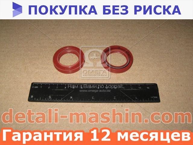 Сальник вала коленчатого ВАЗ 2108 передний 28х42х7 красн с пруж (Дорожная карта). 2108-1005034К