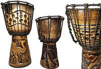 Деревянный музыкальный барабан Джембе Bębenek Bongos 50см