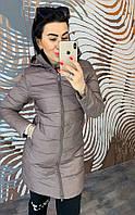 Женское пальто на молнии с капюшоном