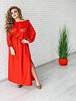 b8feb6cab7f Женское платье в пол на резинке Эдем   размер 42-72 цвет красный