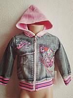 Ветровка-куртка джинсовая с бабочкой 1-2 года с витрины
