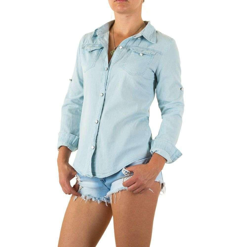 37f516ede2ec Джинсовая рубашка с кружевом Realty Jeans (Европа) купить оптом в Украине -  ...