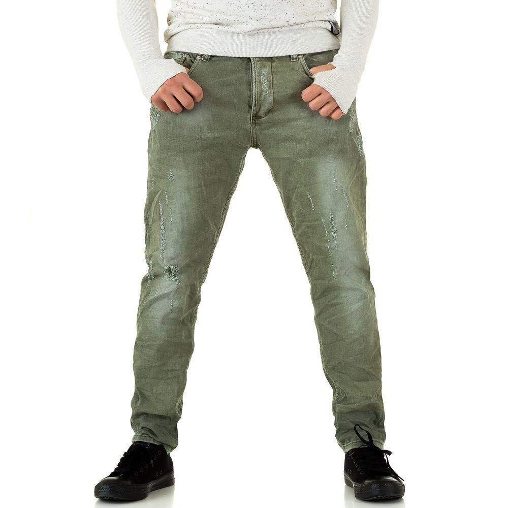Мужские джинсы Y. Two Jeans, размер 28 - Army Green - KL-H-C199-Army Green 28