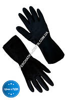 """Перчатки резиновые КЩС чёрные длинные """"XL"""" 265"""