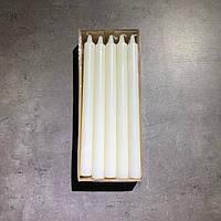 Свеча декоративная белая 10 шт.