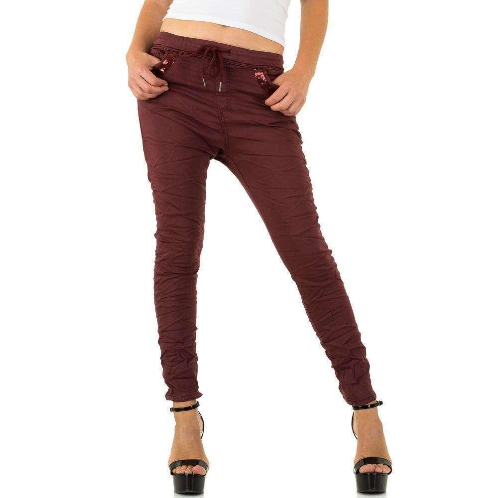Женские джинсы от Place Du Jour - Бордо - KL-J-93929-1-Бордо