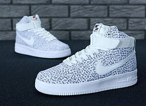 Мужские кроссовки Nike Air Force 1 Mid Just Do It, nike air force high, фото 3
