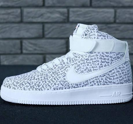 Мужские кроссовки Nike Air Force 1 Mid Just Do It, nike air force high, фото 2