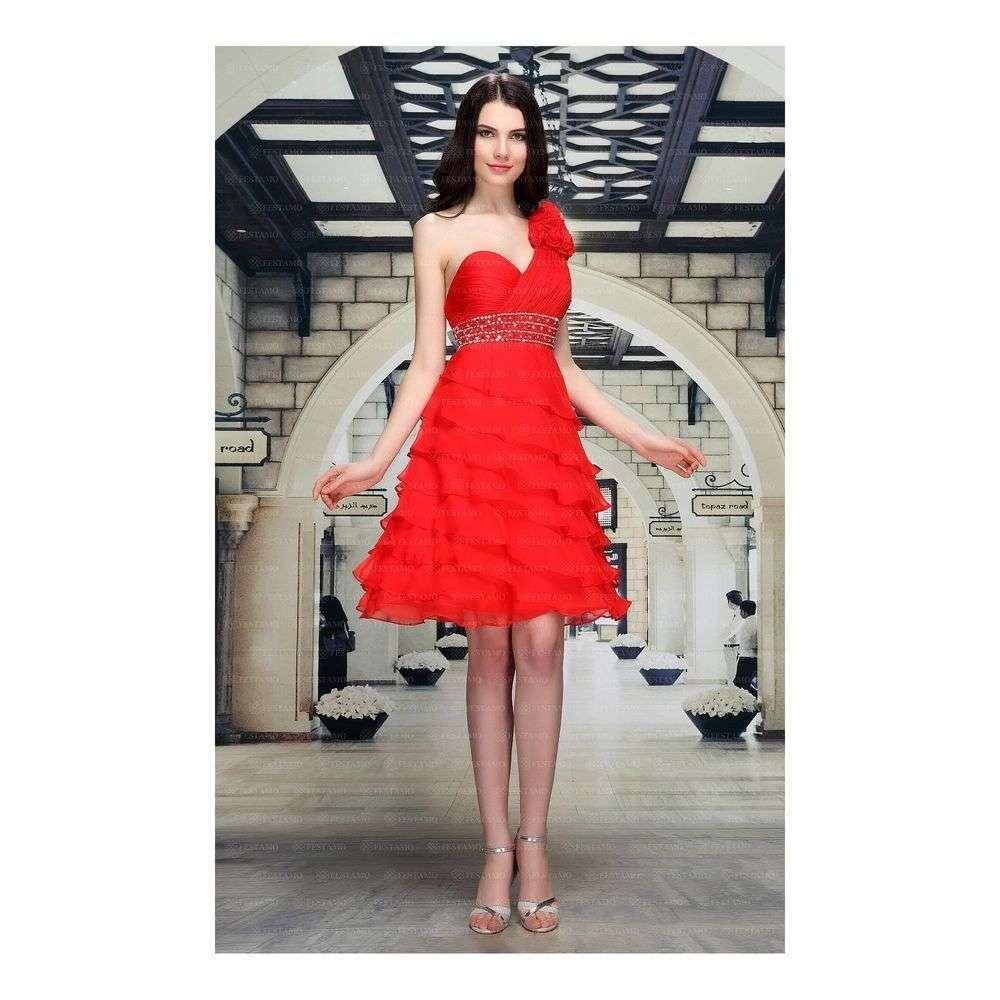 Женское платье от Festamo - red - Мкл-F1337-red