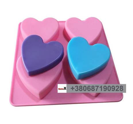 Харчова силіконова форма серце без візерунка, фото 2