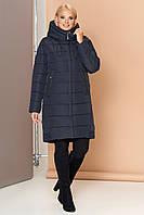 Длинная женская зимняя куртка VS 184, темно-синяя, фото 1