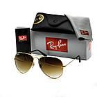 Очки Ray Ban Aviator brown (replica), фото 4