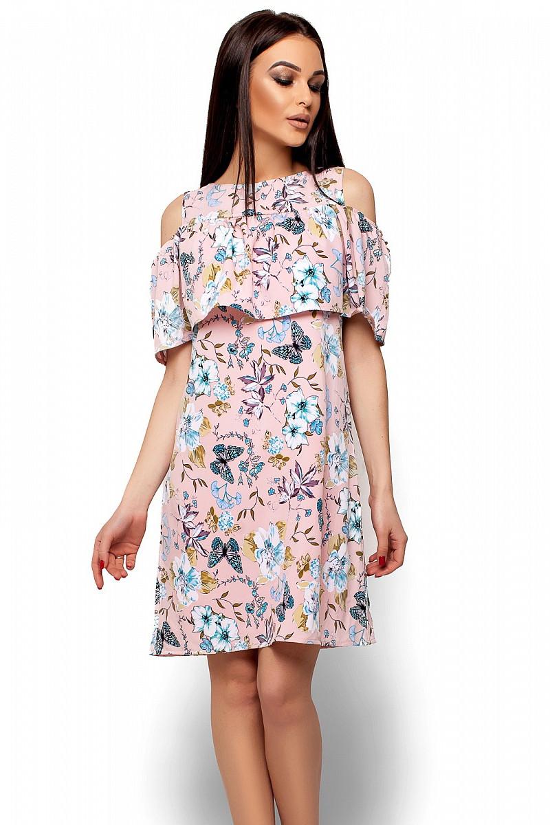 (M / 44-46) Літнє рожеве плаття в квіти Kenia