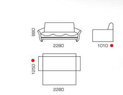 схема дивана Находка