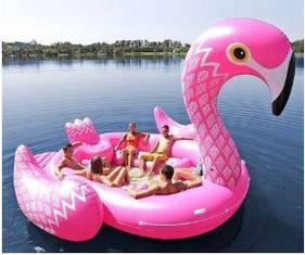 Надувний пляжний матрац Flamingo 500х300 см