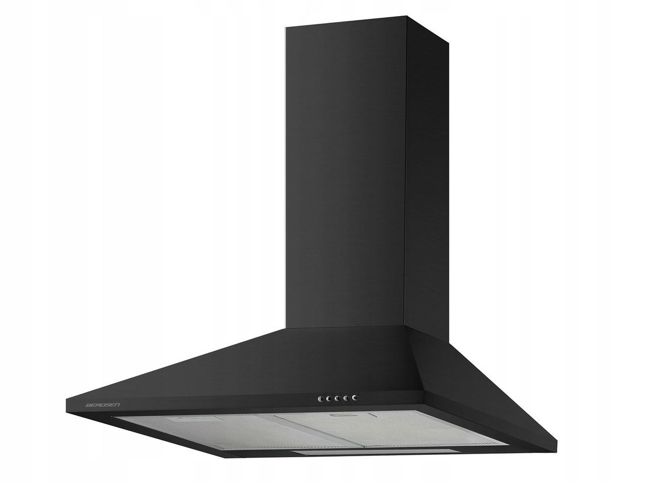 Кухонная вытяжка дымоходная 60см BT-214 черная