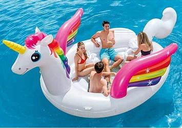 Надувной пляжный матрас Intex 57266 Unicorn 503x335 см, фото 2