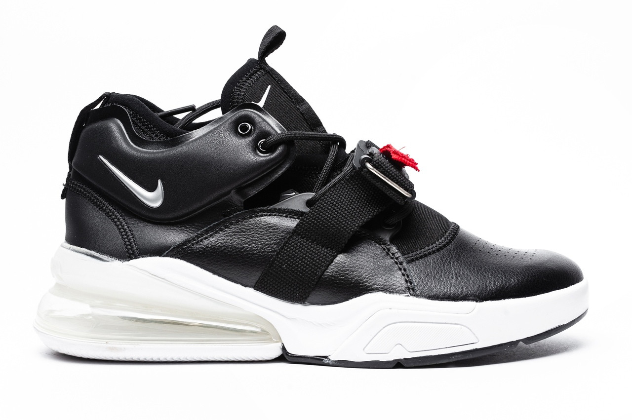 8e633f61 Мужские кроссовки в стиле Nike Air Force 270 (black/white), Реплика ААА ...