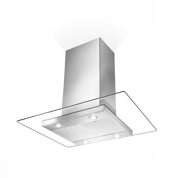 Кухонная вытяжка островная FABER GLASSY ISOLA 90EC стекло + нержавеющая сталь