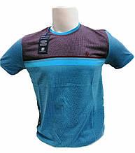 Футболка мужская STEEL WAY модель 1518 с полосками Голубая