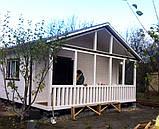 Дачний будинок 6м х 6м з блокхаус з терасою, фото 5