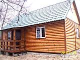 Дачний будинок 6м х 6м з блокхаус з терасою, фото 6